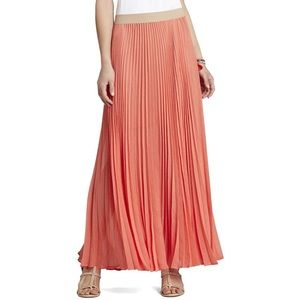 BCBGMAXAZRIA Esten Sunburt Pleated Maxi Skirt